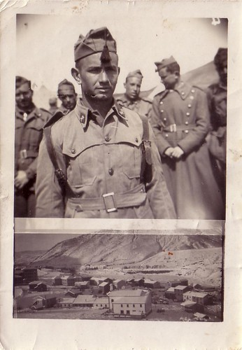 Luis Gonzalo Laguna cumpliendo servicio militar obligatorio en Sabiñanigo, Huesca
