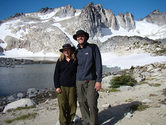 Amy and Eddie (me) (edman5553) Tags: blue mountain lake inspiration washington gnome little hiking lakes pass goat peak alpine backpacking cascades mcclellan isolation wilderness tarn annapurna enchantment perfection leavenworth dragontail prusik colchuck enchantments aasgard