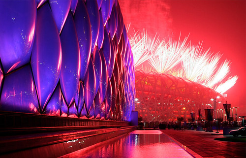 Beijing National Aquatics Center and Stadium, 2008 Beijing Olympics Opening Ceremony