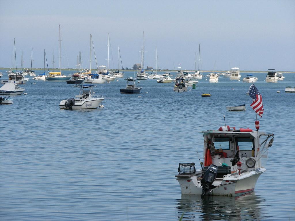 Empty fishing boat