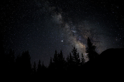 Milky Way as seen from Yosemite high country