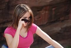 Victoria - shades (AaronWright) Tags: sb600 redrocks vob 4782 d80 strobist coloradostrobist victoriavanvleet