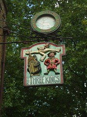 Three Kings pub sign (Matt From London) Tags: london elvis kingkong clerkenwell threekings pubsign henrytheeighth londonist