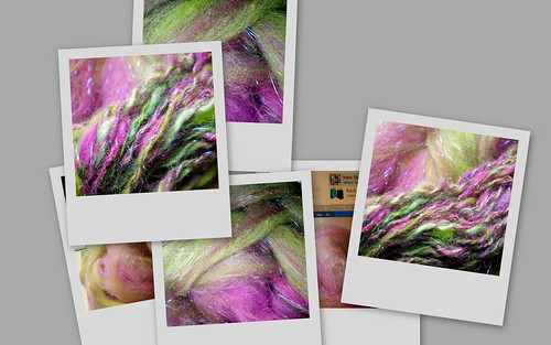 Collage of Handblended Fiber & Handspun Yarn