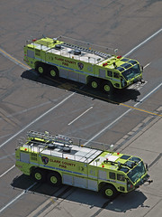 Yellow Red Dawgs! - McCarran Int'l Airport, NV  USA (gTarded) Tags: las rescue water yellow truck fire airport foam fighting reddog department klas oshkosh mccarran dept clarkcounty arff