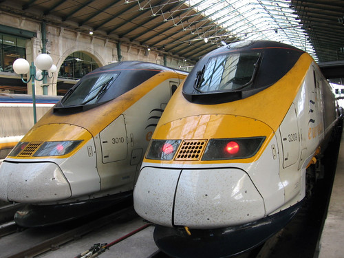 Eurostar at the Gare du Nord by OliverN5.