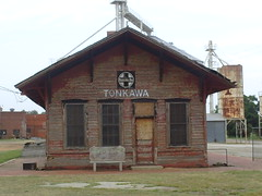 Train Station in Tonkawa, Oklahoma