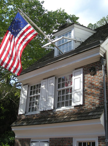 Flag outside Betsy Ross House