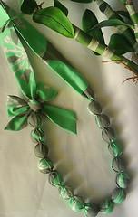 Colar CL14 (KariKato) Tags: handmade artesanato colar outono rebuçado tecido karikato