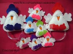 Galinhas famosas (Casa Bonita Artesanato!) Tags: felt feltro galinhas