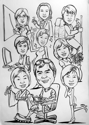 Caricatures for Spencer Stuart (HK) ink