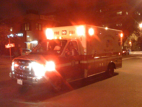 Medic 1 of the DC Fire Dept on 17st NW, Washington DC - Taken With An iPhone