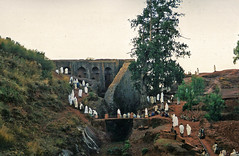 Feast of St. George holiday service at ancient Bete Gabrael Rufael bedrock church, Lalibela, Ethiopia, Africa (Boonlong1) Tags: africa holiday history church architecture cathedral religion culture christian celebration historical ethiopia archeology cultural lalibela bedrock placeofworship houseofworship orthadox religiousholiday 5photosaday rockhewn eliteimages