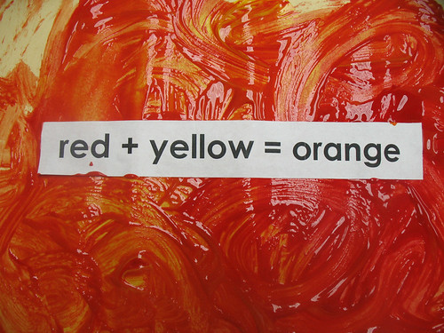 red + yellow = orange 0809 - 3