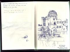 65p04 (Paul Jonathan Ryan Sketchbooks etc) Tags: japan ryan sketchbook hiroshima nagasaki sketchbooks imperialwarmuseum paulryan httpwwwpaulryancouk sketchbook65 pauljonathanryan