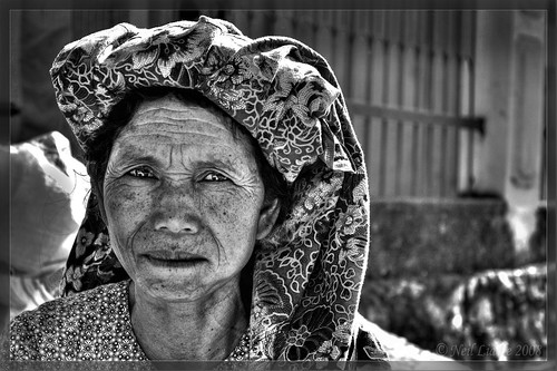 Old woman at market
