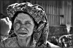 Old woman at market