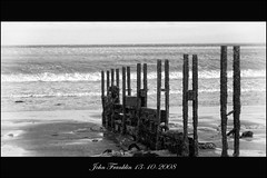 Breakwater at the Warren in Folkestone (bonksie61) Tags: sea sky bw water canon sand framed wave warren signed breakwater folkestone aquatica blackwhitephotos almostanything anythingtodowithwater thisfeelsgood canonflickr apeachofashot