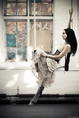 al 1 (Cannibalized) Tags: 20d mill feet stockings girl digital canon hair long stripes massachusetts gothic goth skirt swing warehouse corset krystal trapeze layton otiose cannibalized pettiecoat