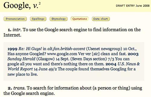 OED Google