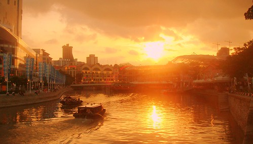Clark Quay sunset