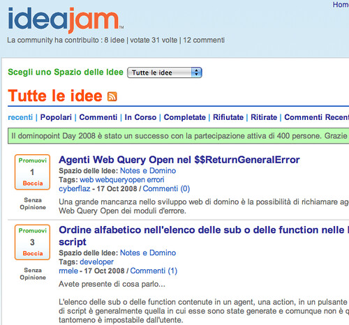 IdeaJam in Italian