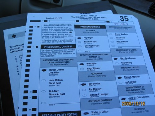 The ballot, another view