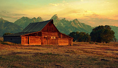 Morning Light and Color at Moulton Barn (Jeff Clow) Tags: ranch morning barn rural landscape bravo farm explore wyoming jpeg hdr grandte