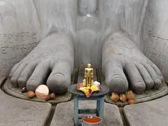 feet of Bahubali at Shravanabelagola