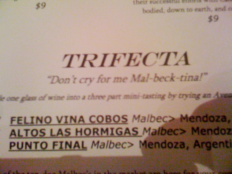 cheesy wine list