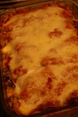 mushroom + sausage lasagna