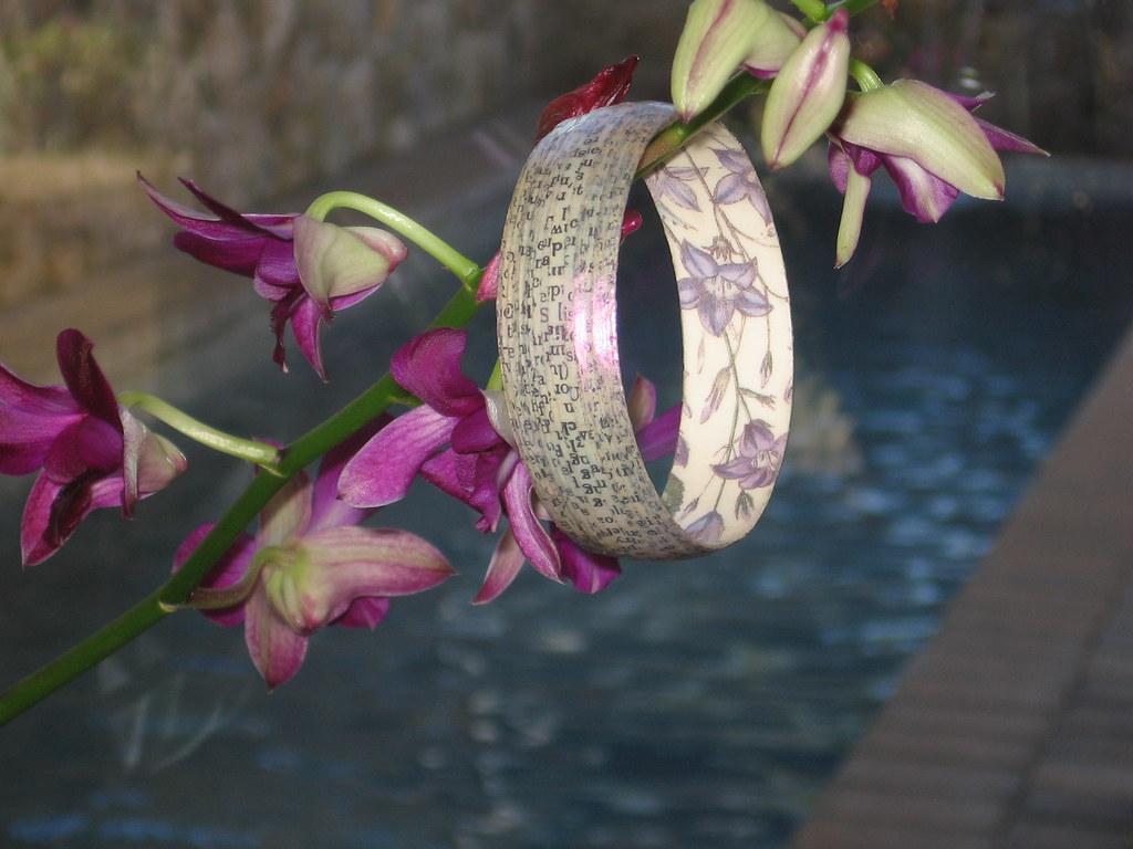 Shimmery Flower Bangle 3