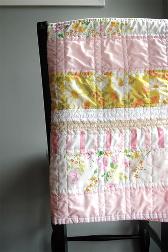 baby quilt from vintage favorites