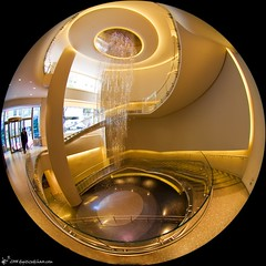 bottom of the rock (digitizedchaos) Tags: rockefellercenter fisheye lobby gebuilding top20fisheye circularfisheye sigma45