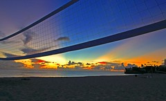 Volley Ball Net (CristalArt) Tags: blue sunset red orange sun net beach colors yellow photoshop sand sint caribbean volleyball streams maarten hdr 3raw colorphotoaward damniwishidtakenthat