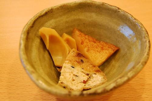 小鉢、竹のこの煮物(ぶつをのうどん・宇都宮市) (by kimishowota)