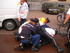7 Police Men Arresting 1 Man - Coolsingel - Rotterdam - Holland (Leo Roubos) Tags: holland men netherlands rotterdam live nederland police morocco policia arrested arrest moroccan policeman coolsingel policemen polis politie arrestatie marokkaan polisi marokkaans