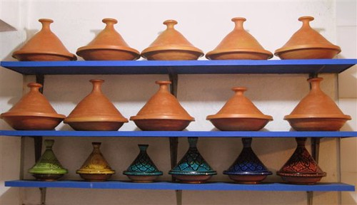 tagines in a row