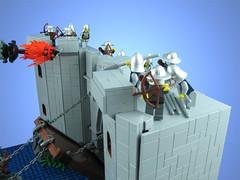 The Siege of Ung'Thol (tiberium_blue) Tags: castle lego troll drawbridge moat siege catapult cccvi siegeofungthol