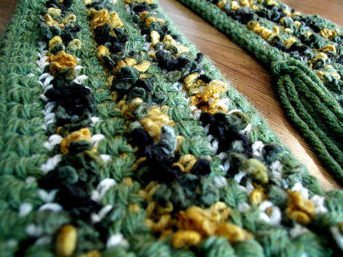 Crocheted Scarf Detail