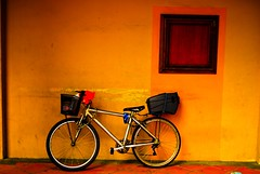 Bike besides closed window (A wandering hermit) Tags: photography naval bhatt