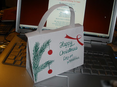 My Christmassy paper handbag, for H