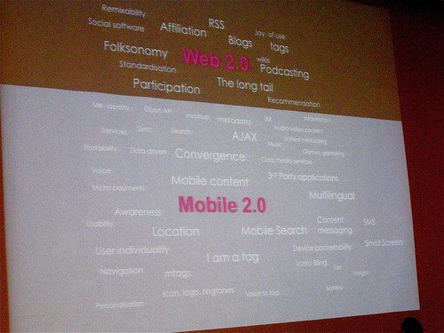 Web 2.0 vs Mobile 2.0 Tag Cloud