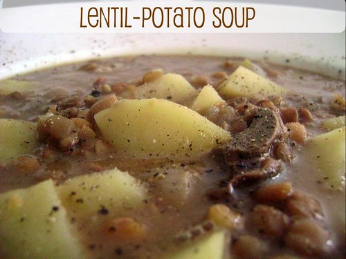warming Lentil and Potoato Soup