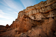 Sunrise in Red Rock (analog_chainsaw) Tags: redrockcanyon morning sky sunrise desert canyon cliffs redrock