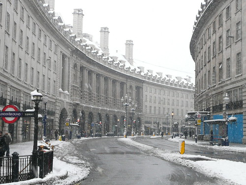 Regent Street in the snow (by Jon Curnow)