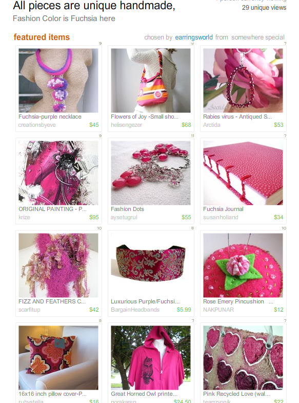 All pieces are unique handmade  Treasury by earringsworld