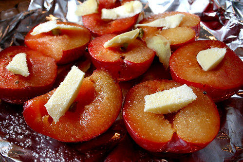 Baked Plums prep