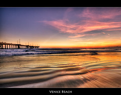 Venice Beach Sunset (szeke) Tags: ocean venice sunset beach water clouds landscape pier sand venicebeach hdr photomatix flickrsbest anawesomeshot amazingamateur multimegashot theartlair daarklands