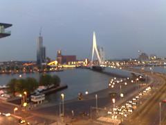 Rotterdam night skyline (Michiel020) Tags: skyline night rotterdam erasmusbrug
